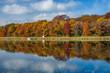 autumn reflections, east boot lake, minnesota