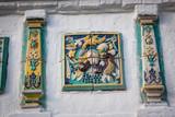 Colored ceramics in the design of the Iosifo-Volotsky monastery