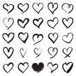 Hand painted heart symbols - 168230932