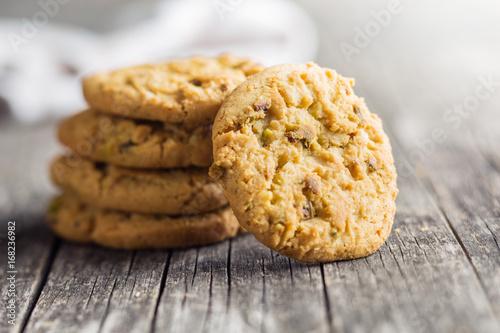 Sweet pistachio cookies. Poster