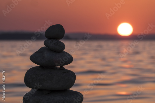 Sunset at the Lake Constance, Austria, Europe