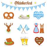 Oktoberfest Symbole Icons
