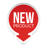 New Product round label - 168249332