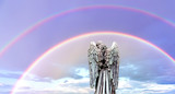 Double rainbows God's promise of love, care, support, and protection - 168258346