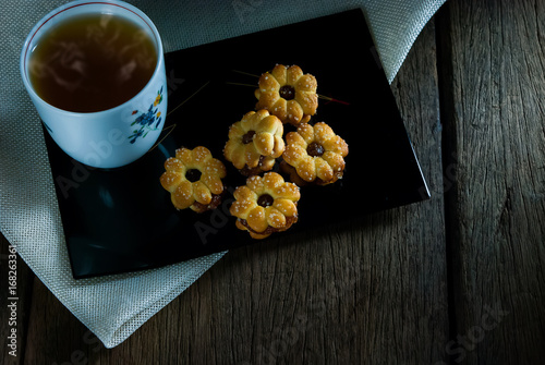 Wall mural Pineapple Bread with Tea
