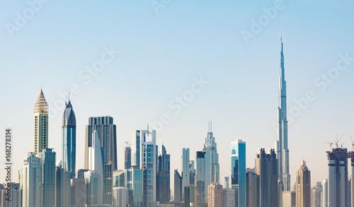 Foto op Canvas Dubai Futuristic Dubai Skyline