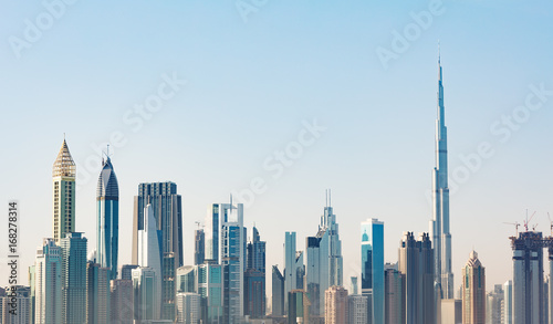 Papiers peints Dubai Futuristic Dubai Skyline