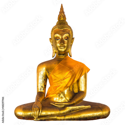 Fotobehang Boeddha Seated golden Buddha