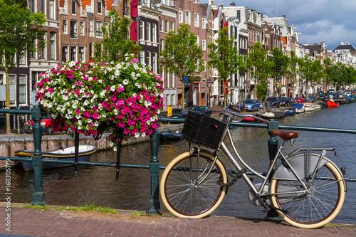 Papiers peints Amsterdam One fine day in romantic Amsterdam, Netherlands