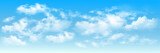 Fototapeta Na sufit - Background with clouds on blue sky. Blue Sky vector © monicaodo