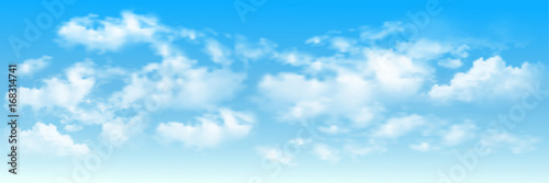 Fototapeta Background with clouds on blue sky. Blue Sky vector