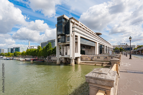 Bercy ministry of finance in Paris on a sunny day, France - 168318949