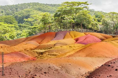 Poster terres des 7 couleurs de Chamarel, île Maurice