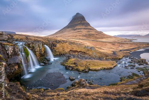 Kirkjufellsfoss Waterfalls Iceland - 168338557
