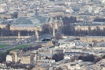 Paris panorama view