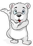 Cute Polar Bear Standing and Gesturing - Cartoon Illustration, Vector
