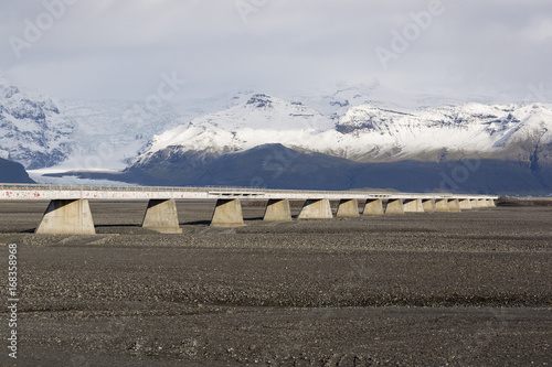 Poster Bridge in iceland over a dried out river