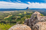 View from the summit of Mount Ngungun, Glass House Mountains, Queensland, Australia