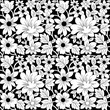 Black And White Floral Background Pattern - 168378793