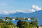 Island Fraueninsel on lake Chiemsee in Bavaria on a sunny summer day - 168380582