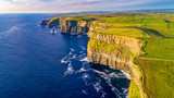 View of Cliffs of Moher, Liscannor, Ireland. The Cliffs of Moher in County Clare are Ireland's most visited natural attraction - 168390756