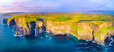 View of Cliffs of Moher, Liscannor, Ireland. The Cliffs of Moher in County Clare are Ireland's most visited natural attraction - 168390934