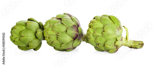 Foto op Canvas Verse groenten artichoke isolated on white background