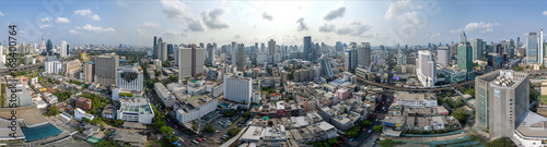 Foto op Plexiglas Bangkok Bangkok City 360° panorama, Nana and Sukhumvit Road