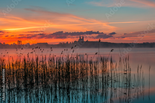 Fototapety, obrazy : Sunrise at Lake Wigry, Masurian Lake District