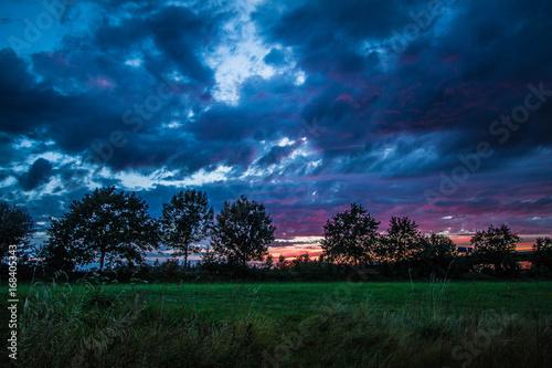 Fotobehang Thailand Sunset am Rhein