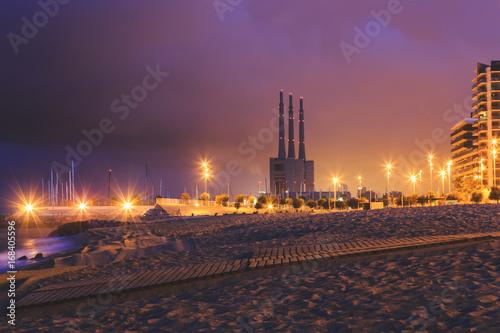 Aluminium Barcelona Barcelona beach sunrise