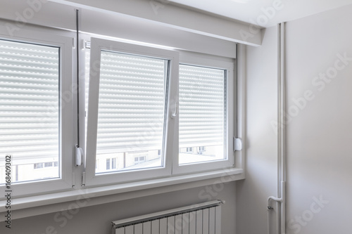 Foto Murales PVC window in room