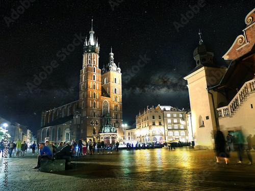 Papiers peints Cracovie Cracovie de nuit