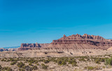 Arid plaine of Arizona and sandstone rocks. The territory of the Navajo reservation