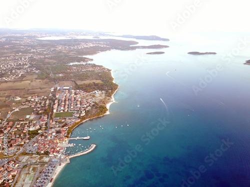 Foto op Plexiglas Groen blauw Kroatien - Istrien aus der Luft