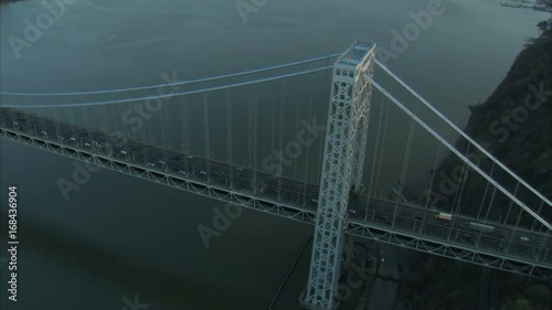 george washington bridge top view