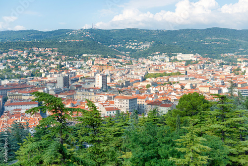 Wall mural Aerial view to city of Trieste in Italy
