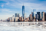 NYC, Rarely frozen Hudson River freezes over due to Climate Change and unpredictable weather.