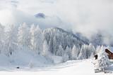 Amazing winter scenery, Austrian alps