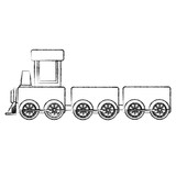 train toy isolated icon vector illustration design - 168456782