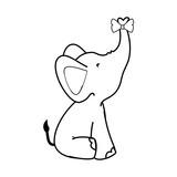 cartoon elephant animal icon over white background colorful design vector illustration