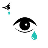 Tear icon and eye icon - 168469136