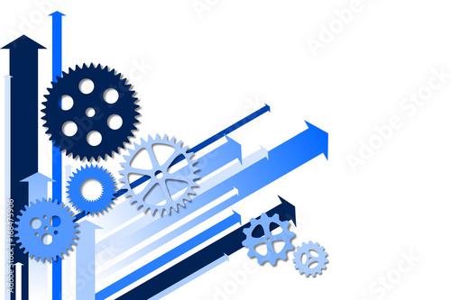 Mécanisme et Flèches Bleu