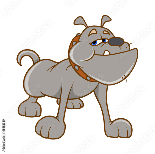 Deurstickers Babykamer Bulldog Vector