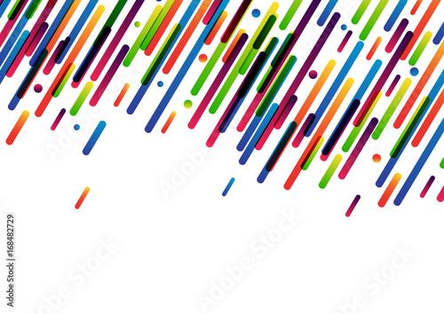 Jaskrawa kolorowa abstrakcjonistyczna sztandar linia, kropka na bielu i. Ilustracja wektorowa papieru.