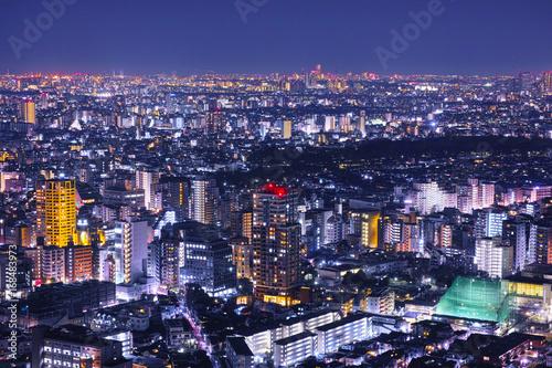 東京の住宅街の夜景 Poster