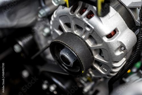 new car engine closeup