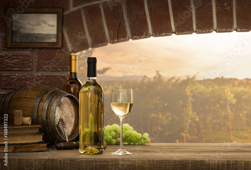 White wine tasting in the cellar © stokkete