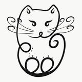Cat, curl
