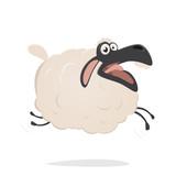 funny cartoon sheep - 168504735